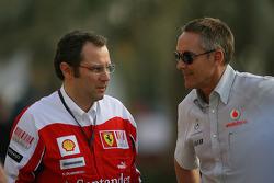 Stefano Domenicali Ferrari General Director met Martin Whitmarsh, McLaren, Chief Executive Officer