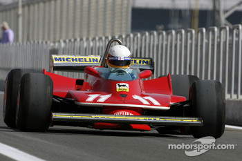 Jody Scheckter, 1979 F1 World Champion drives the 1979 Ferrari 312 T4