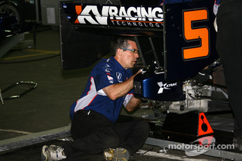 KV Racing Technology team member at work