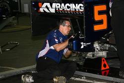 KV Racing Technology team member at work