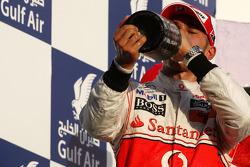Podium: third place Lewis Hamilton, McLaren Mercedes