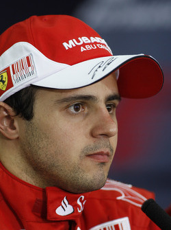 Press conference: second place Felipe Massa, Scuderia Ferrari