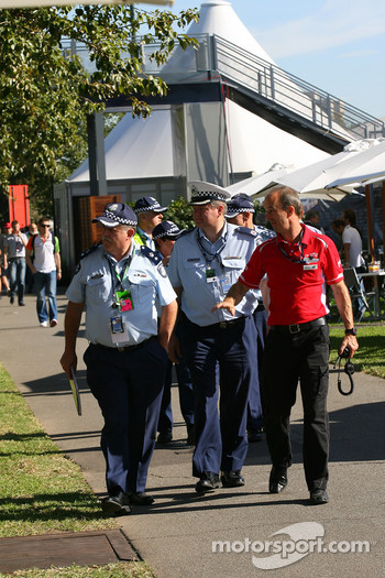 Police in the paddock