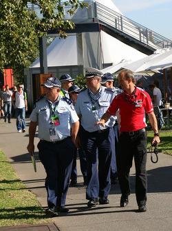 Police in the paddock