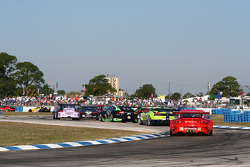 The field on the pace lap