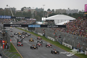 The start of last year's Australian GP