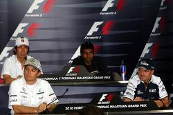 Kamui Kobayashi, BMW Sauber F1 Team, Nico Rosberg, Mercedes GP, Karun Chandhok, Hispania Racing F1 Team HRT, Rubens Barrichello, Williams F1 Team