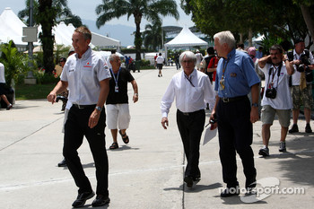 Martin Whitmarsh, McLaren, Chief Executive Officer, Bernie Ecclestone, Charlie Whiting, FIA safety delegate, Race director and offical starter