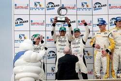 LMP1 podium: Michelin Green X Challenge winners Nick Leventis, Danny Watts and Jonny Kane