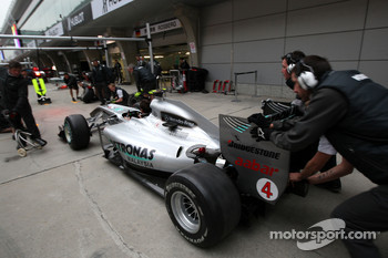 The car of Nico Rosberg, Mercedes GP