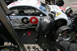 Pitstop practice of Maro Engel, Mücke Motorsport, AMG Mercedes C-Klasse