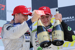 Podium: Marco Wittmann, Signature and Edoardo Mortara, Signature congratulate each other with a 1-2 victory for Signature