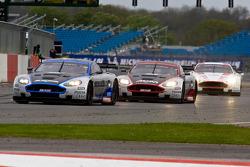 #10 Hexis AMR Aston Martin DB9: Clivio Piccione, Jonathan Hirschi leads the field