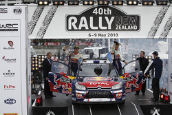 Podium: second place Sébastien Ogier and Julien Ingrassia, Citroën C4 WRC, Citroën Junior Team