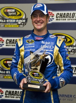 Pole winner Kurt Busch, Penske Racing Dodge