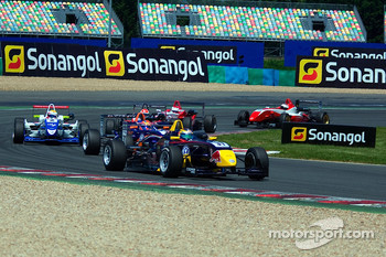 Jean-Eric Vergne leads a group