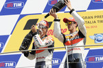 Podium: race winner Dani Pedrosa, Repsol Honda Team, third place Andrea Dovizioso, Repsol Honda Team
