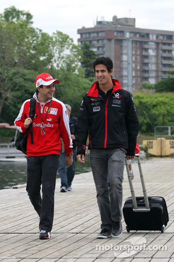 Felipe Massa, Scuderia Ferrari and Lucas di Grassi, Virgin Racing