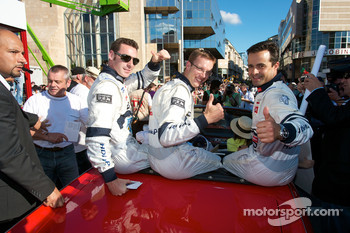 Simon Pagenaud, Sébastien Bourdais and Pedro Lamy