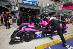 Pit stop for #24 Oak Racing Pescarolo Judd: Jacques Nicolet, Richard Hein, Jean-François Yvon