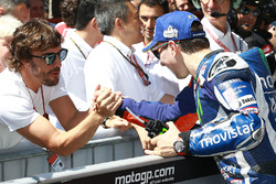 Race winner Jorge Lorenzo, Yamaha Factory Racing, Fernando Alonso