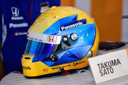 Takuma Sato, A.J. Foyt Enterprises Honda helmet