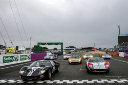 Ford GT40 with the new Ford GT