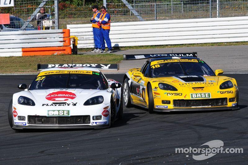 ADAC GT Masters Race 1 - Hannawald / Frentzen passing Eng / Seiler