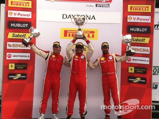 Carlos Kauffmann Leads the Race 1 Podium celebration