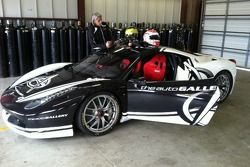 Helmets at the ready for the next Auto Gallery Motorsports Ferrari Challenge test session