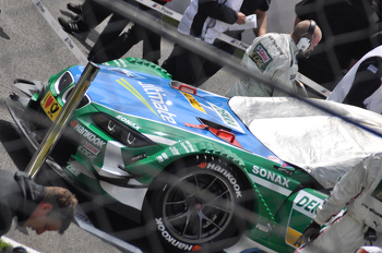 Augusto Farfus' car on the grid