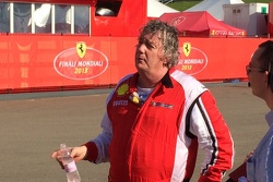 Jim Weiland hydrates after a practice session