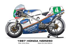 Honda NSR250 - 1987 Anton Mang