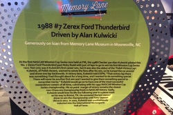 Memory Lane Signboard for Alan's Phoenix Winning 1988 #7 Zerex Thunderbird