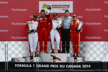 Paul Hembery (Pirelli motorsport director) presented the prizes to the Ferrari Challenge winners.