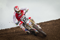 Honda SmarTop/Moto Concepts rider Vince Friese #12 takes the early lead dominating the series
