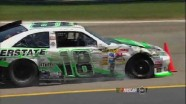 Kyle Busch Cuts A Tire
