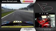 On-board of the Ferrari 458 Challenge: Robert Pergl in Spielberg