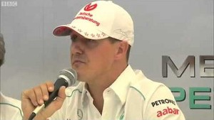 Michael Schumacher announces Formula 1 retirement