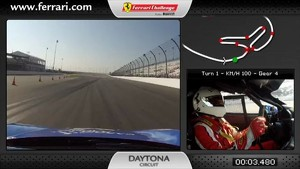 On-board Ferrari 458 Challenge: Damon Ockey a Daytona