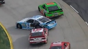 Harvick and Vickers post-race crash!!