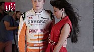 Adrian Sutil & Paul Di Resta - Photoshoot with Chitrangda Singh for Hi!Blitz magazine