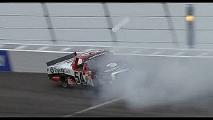 Darrell Wallace Jr. crashes at Rockingham!!