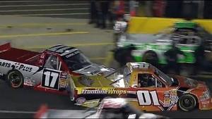 CRASH on pit road!!