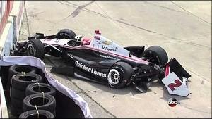Scary crash for AJ Allmendinger at Detroit