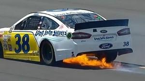David Gilliland catches fire   Pocono (2013)