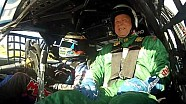 ARU CEO Bill Pulver takes a ride in a Castrol backed V8 Supercar
