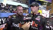NASCAR Victory Lane | Denny Hamlin wins the Ford EcoBoost 400