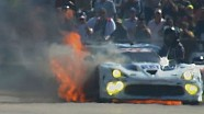 TUDOR Championship: Big Fire & Tire Explodes - 12 Hours of Sebring 2014