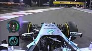 F1 2014 Bahrain Nico Rosberg Qualifying Pole Onboard Lap